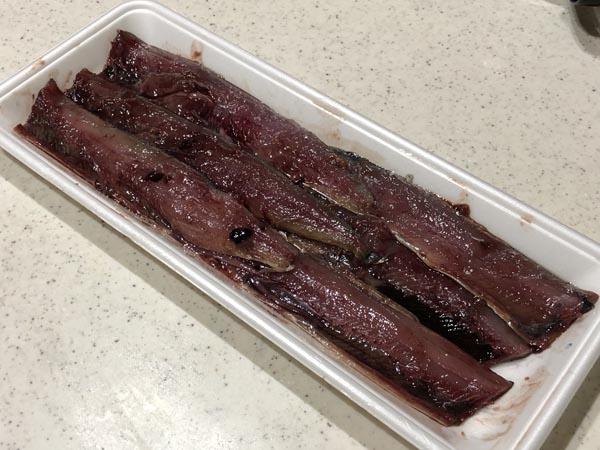 アキアジ(鮭)釣り用 爆釣サンマ餌の作り方002