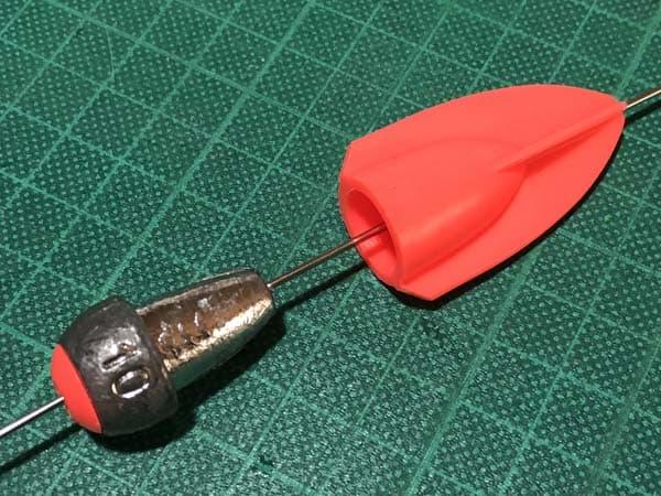アキアジのフカセ釣り用かっとびフロート作成002