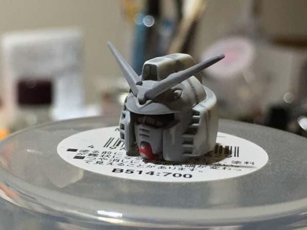 REVIVE HGUC RX-78-2 ガンダム製作写真 フェイスパーツ後ハメ03