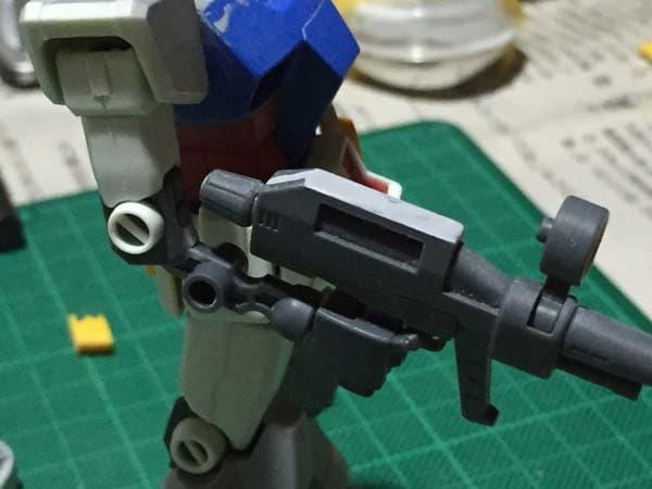 REVIVE HGUC RX-78-2 ガンダム製作写真 下腕後ハメ06