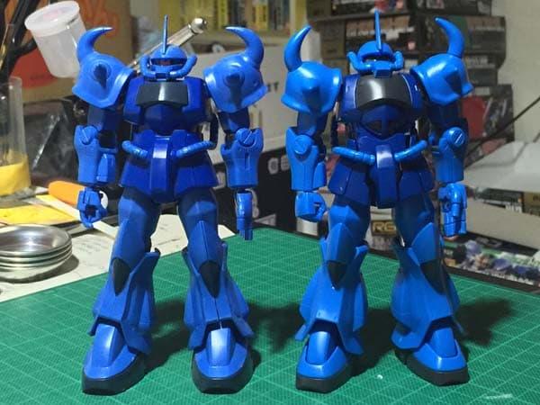 HGUC REVIVE グフ パチ組レビュー222 腕部 全体組立 旧HGUCグフと比較 全身