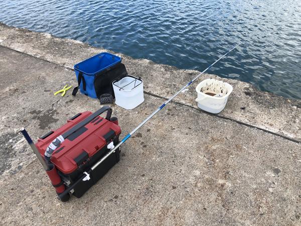 留萌港で小鯖のサビキ釣り、大爆釣001